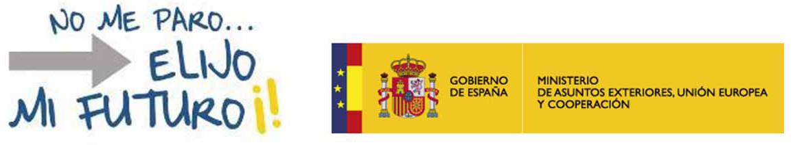 Logotipos No Me Paro y Ministerio de Asuntos Exteriores, Unión Europea y Cooperación