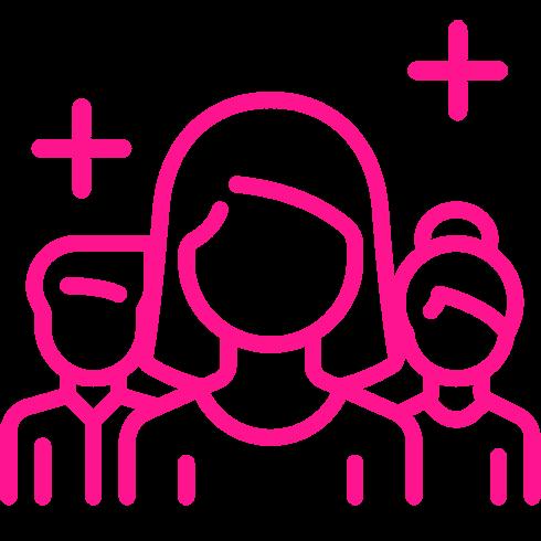 Icono Rosa Equipo de Trabajo