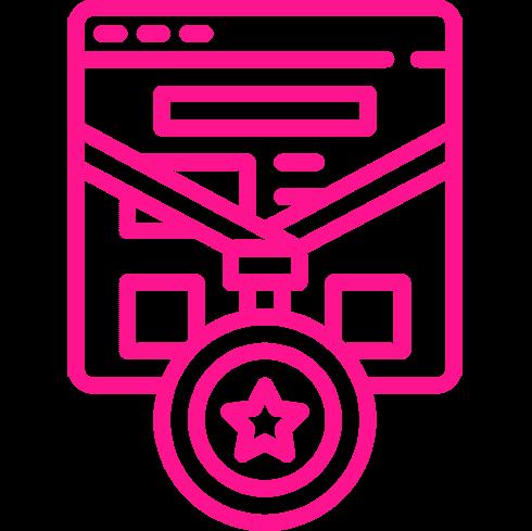Icono Rosa Web con Medalla