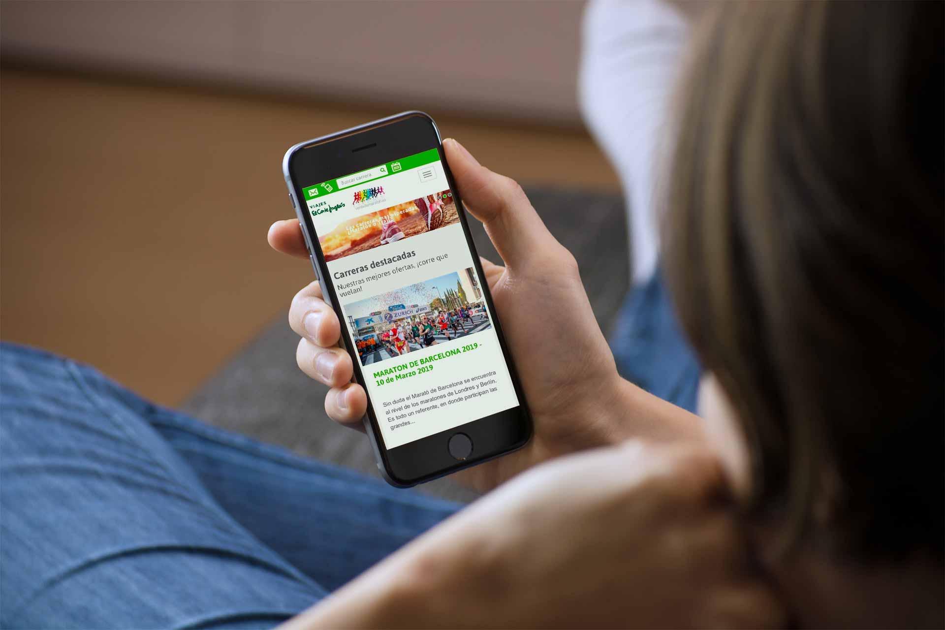 Ivory: Proyecto Vente de maratón para Viajes El Corte Inglés Versión móvil
