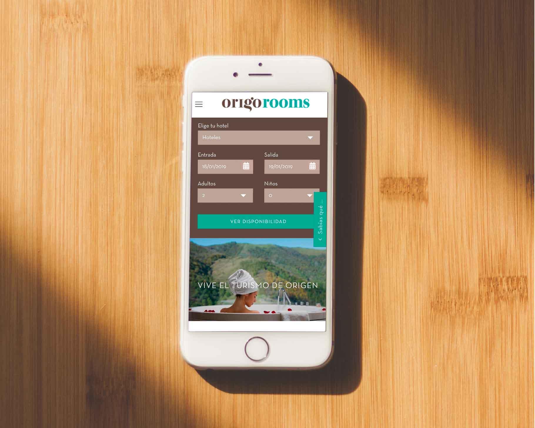 Ivory: Proyecto Origorooms versión móvil