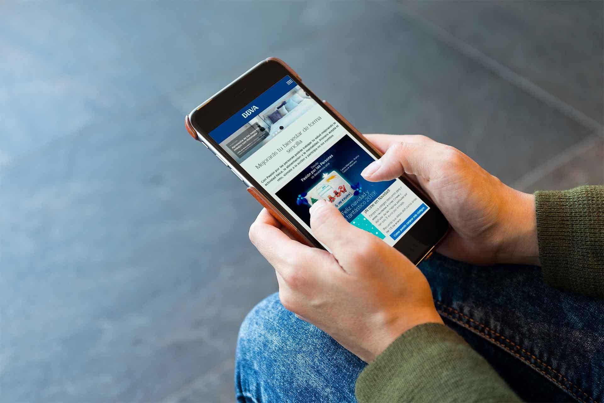 Ivory: Proyecto Red Social BBVA para Inspiring Benefits, versión móvil