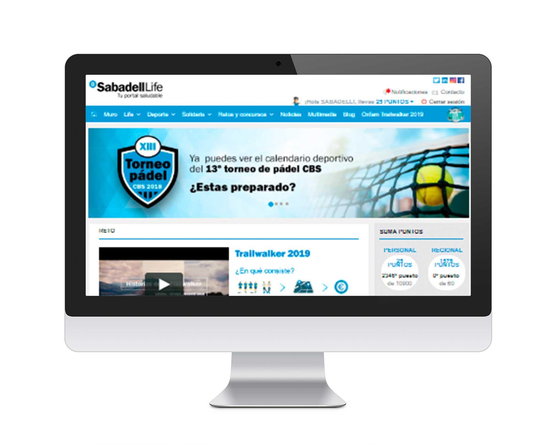 Ivory: Proyecto Red Social Sabadell para Inspiring Benefits, versión móvil